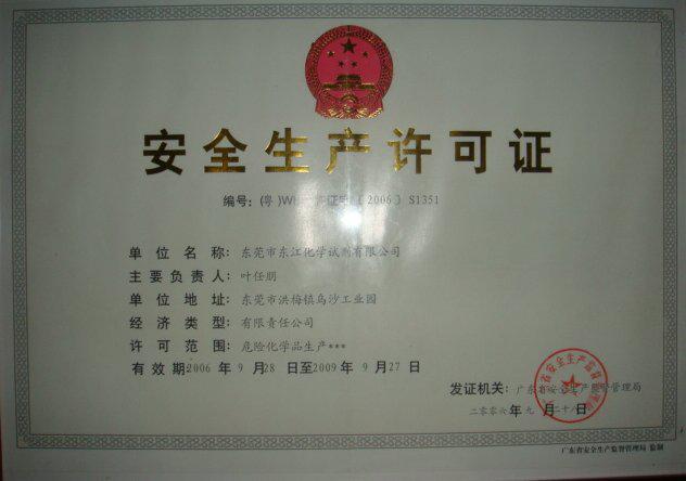 Work safety license